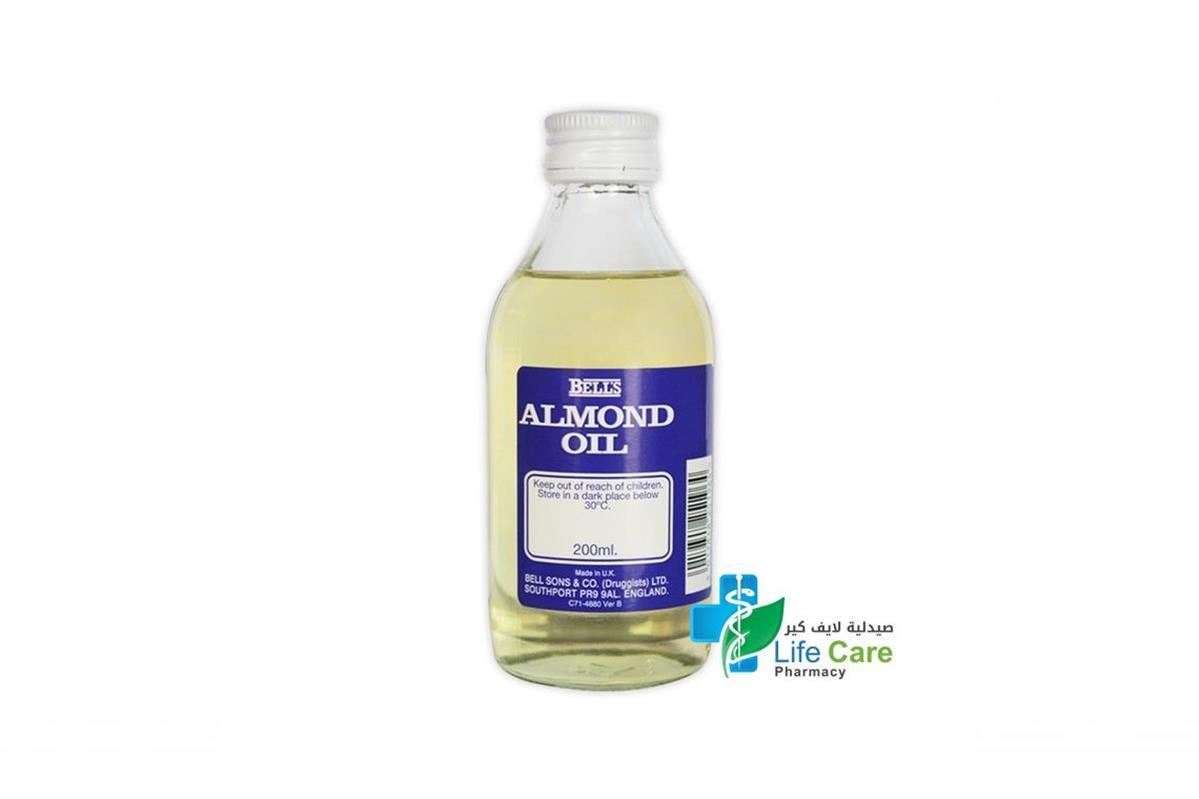 BELLS ALMOND OIL 200 ML - صيدلية لايف كير
