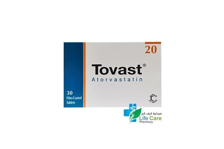 TOVAST 20MG 30 TABLET - Life Care Pharmacy