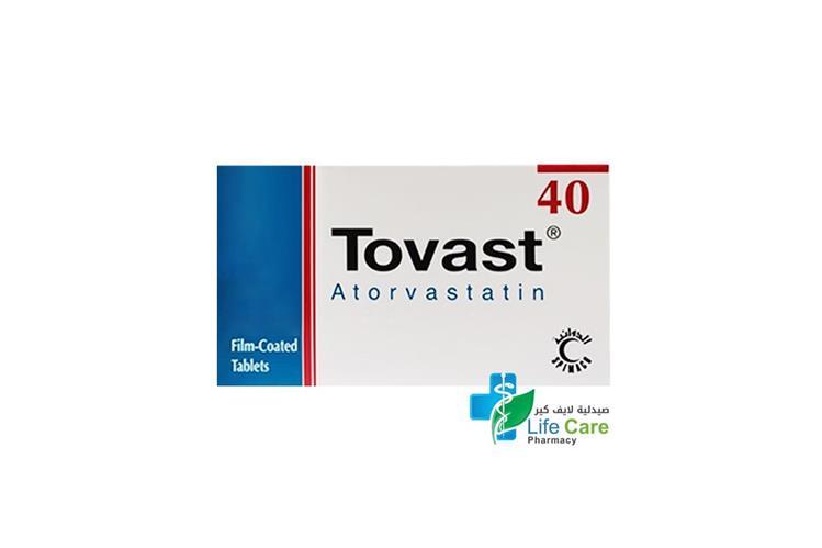 TOVAST 40MG 30 TABLET - Life Care Pharmacy