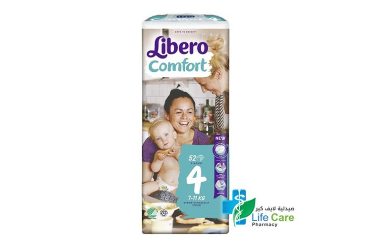 LIBERO COMFORT 4  52 DIAPERS - صيدلية لايف كير