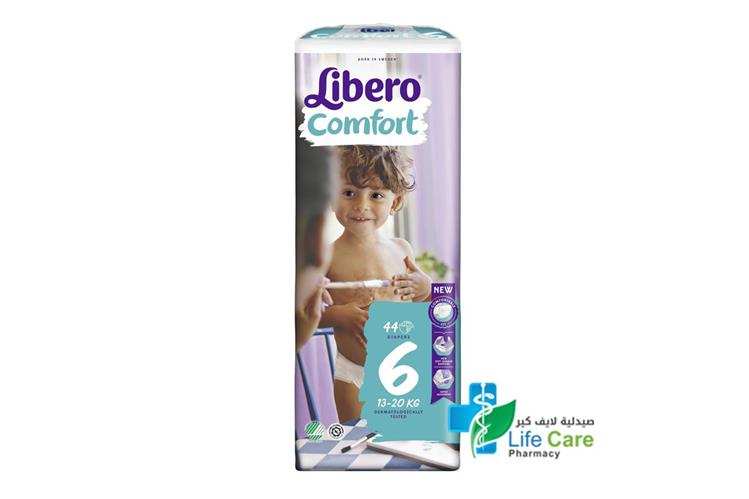 LIBERO COMFORT 6   44 DIAPERS - صيدلية لايف كير
