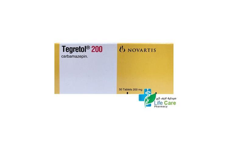 TEGRETOL 200 MG TABLETS 50 TABLETS - صيدلية لايف كير