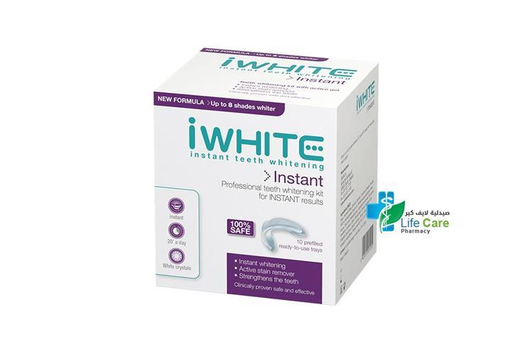 I WHITE INSTANT TEETH WHITENING 10 PREFILLED - صيدلية لايف كير