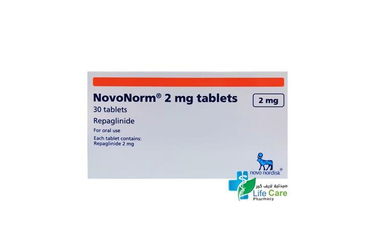 NOVONORM TABLETS 2MG 30 TABLETS - صيدلية لايف كير