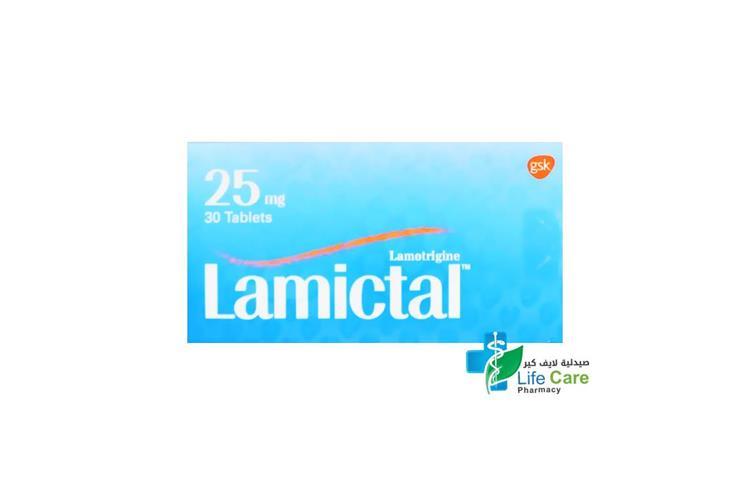 LAMICTAL 25 MG 30 TABLETS - صيدلية لايف كير