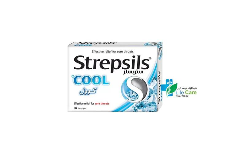 STREPSILS COOL 16 LOZENGES - صيدلية لايف كير