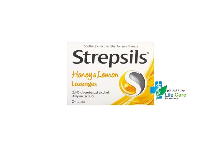 STREPSILS HONEY LEMON 24 LOZENGES - صيدلية لايف كير