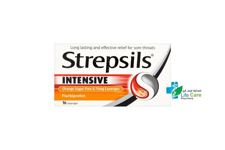 STREPSILS INTENSIVE HONEY LEMON 16 LOZENGES - صيدلية لايف كير