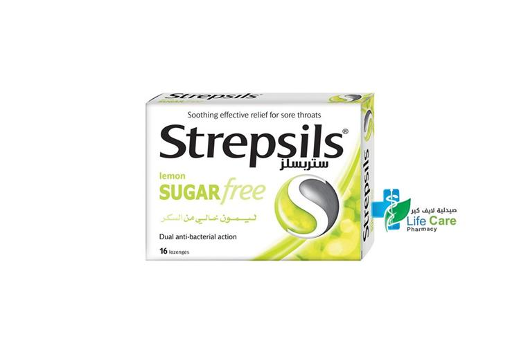 STREPSILS LEMON SUGAR FREE 16 LOZENGES - صيدلية لايف كير
