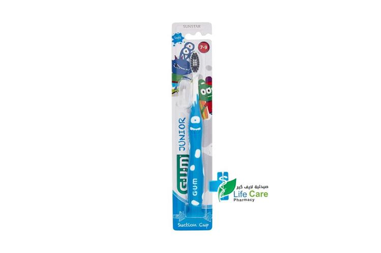 GUM JUNIOR TOOTHBRUSH 7 TO 9 YEARS COLOR BLUE - صيدلية لايف كير