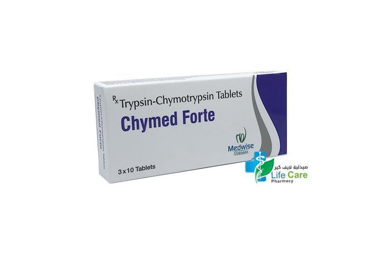 CHYMED FORTE 3X10 TABLETS - صيدلية لايف كير