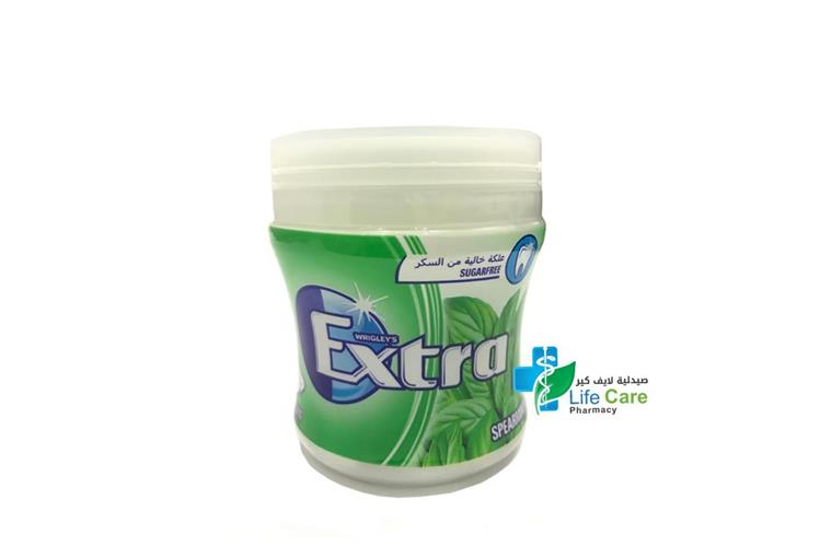EXTRA BIGGIE BOTTLE SPEARMINT T 60 PIECES - صيدلية لايف كير