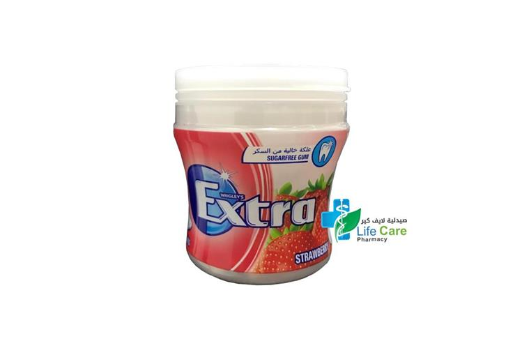 EXTRA BIGGIE BOTTLE STRAWBERRY 60 PIECES - صيدلية لايف كير