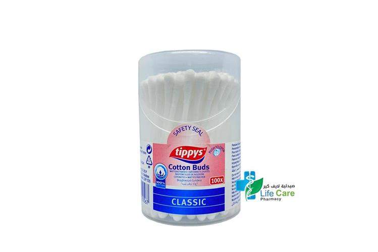 TIPPYS COTTON BUDS 100 PCS - صيدلية لايف كير