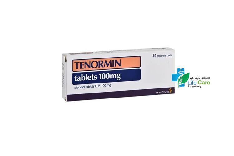 TENORMIN TABLETS 100MG 14 TAB - صيدلية لايف كير