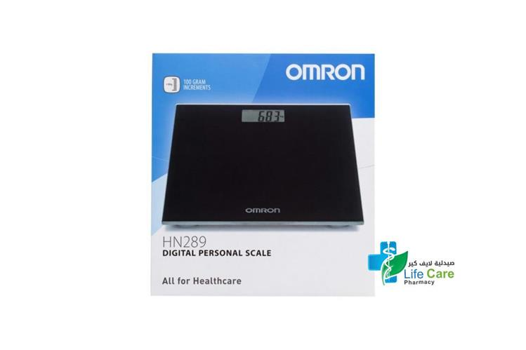 OMRON HN289 DIGITAL PERSONAL SCALE BLACK - صيدلية لايف كير