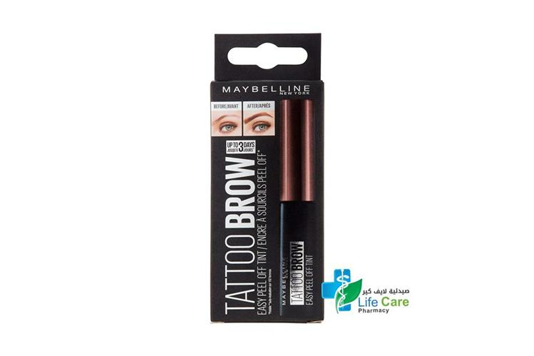 MAYBELLINE FASHION BROW TATTOO DARK BROWN - صيدلية لايف كير
