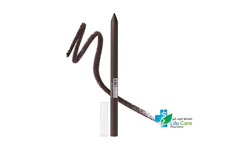 MAYBELLINE TATTOO LINER GEL PENCIL 910 BOLD BROWN - صيدلية لايف كير