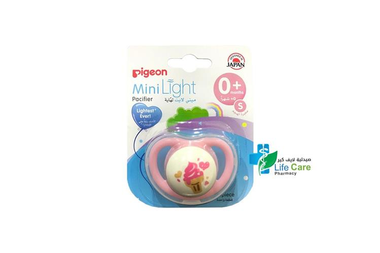 PIGEON MINI LIGHT PACIFIER PLUS 0 MONTH S - صيدلية لايف كير