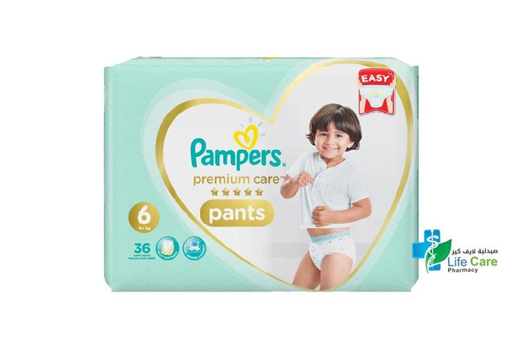 PAMPERS 6 PANTS 16 PLUS KG 36 PANTS - صيدلية لايف كير