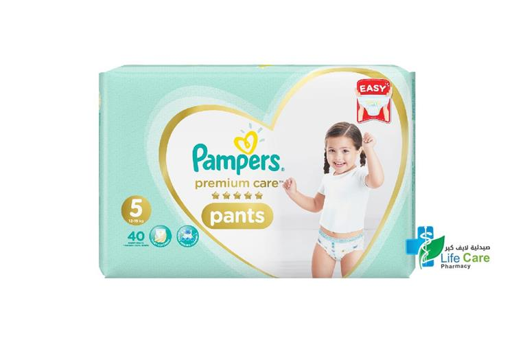 PAMPERS 5 PANTS 12 TO 18 KG 40 PANTS - Life Care Pharmacy