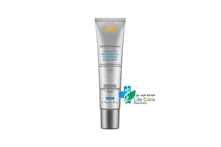 SKINCEUTICALS ADVANCED BRIGHTENING UV SPF 50 40ML - Life Care Pharmacy