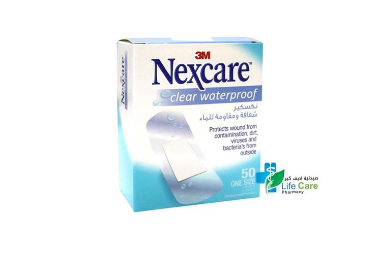 NEXCARE CLEAR WATERPROOF ONE SIZE 50 STRIPS - Life Care Pharmacy