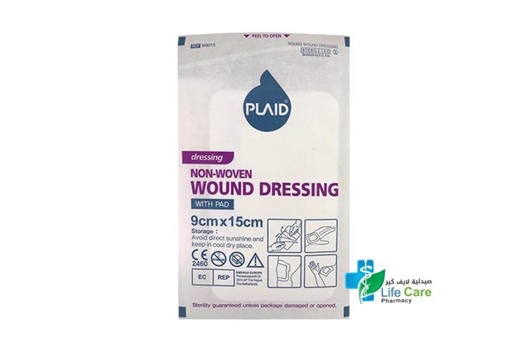 PLAID W DRESSING 9 CMX15 CM - Life Care Pharmacy