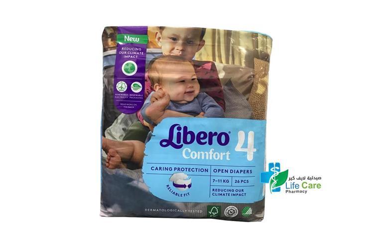 LIBERO COMFORT 4 26 DIAPERS - صيدلية لايف كير