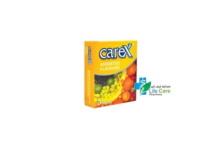 CAREX ASSORTED FLAVORS CONDOM 3 PCS - صيدلية لايف كير