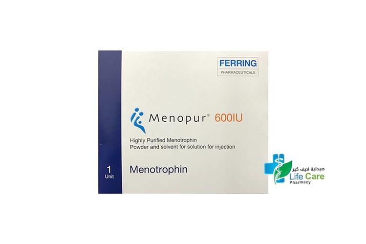 MENOPUR 600 IU SOLUTION FOR INJECTION 1 UNIT - صيدلية لايف كير