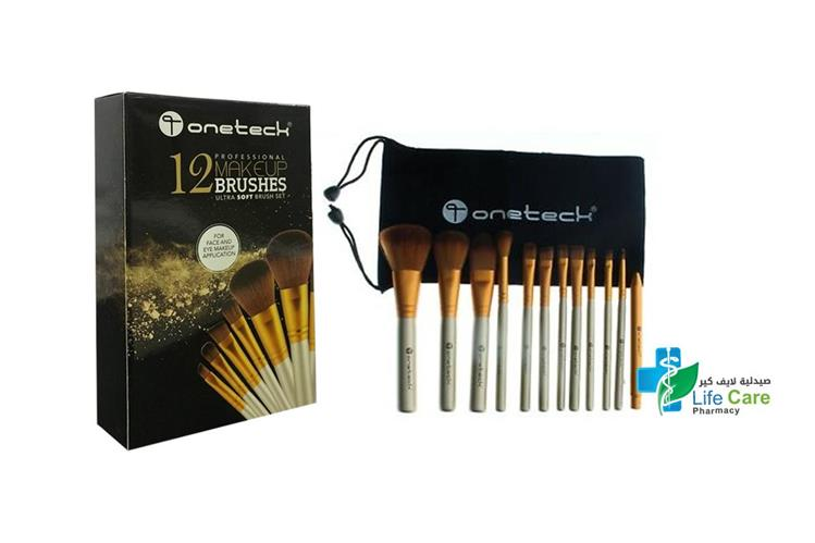 ONETECK MAKEUP BRUSH SET 12 PCS - صيدلية لايف كير
