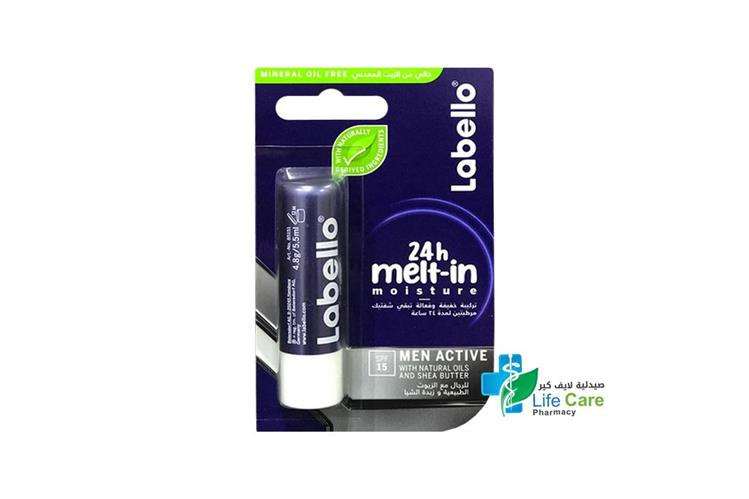 LABELLO FOR MEN ACTIVE 24H 4.8G - Life Care Pharmacy