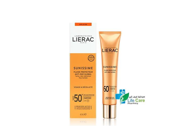 LIERAC SUNISSIME FLUIDE SPF 50 CREAM 40 ML - صيدلية لايف كير