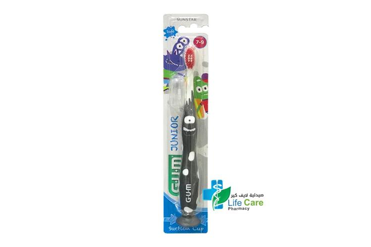 GUM JUNIOR TOOTHBRUSH 7 TO 9 YEARS COLOR BLACK - صيدلية لايف كير