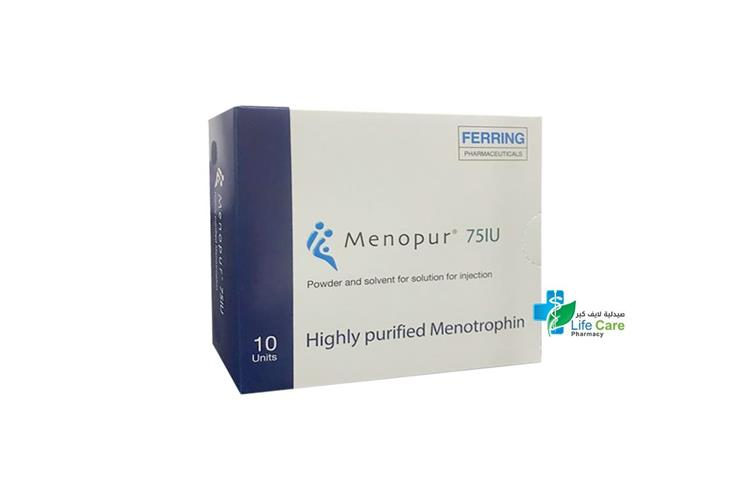 MENOPUR 75 IU SOLUTION FOR INJECTION 10 UNITS - Life Care Pharmacy