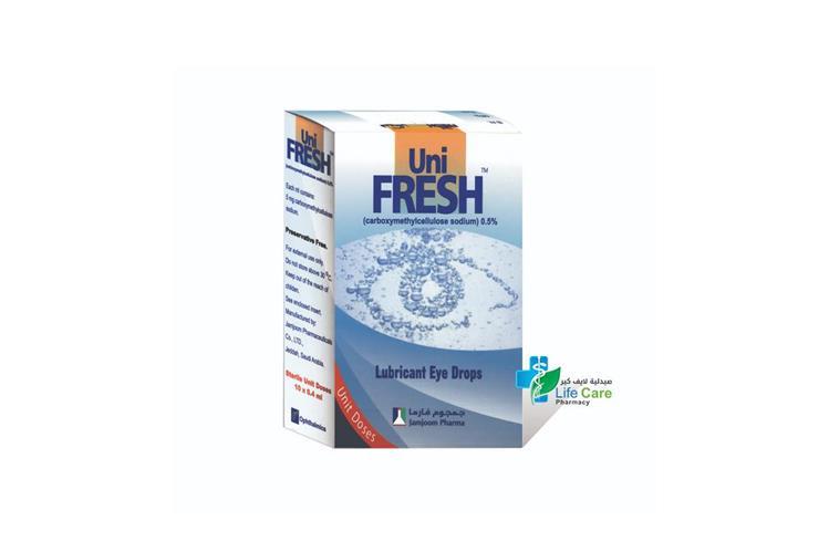 UNI FRESH EYE DROPS 30X0.4 ML - صيدلية لايف كير
