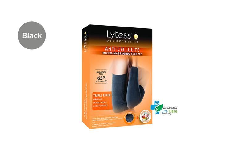 LYTESS ANTI CELLULITE SLEEVES TU BLACK - صيدلية لايف كير