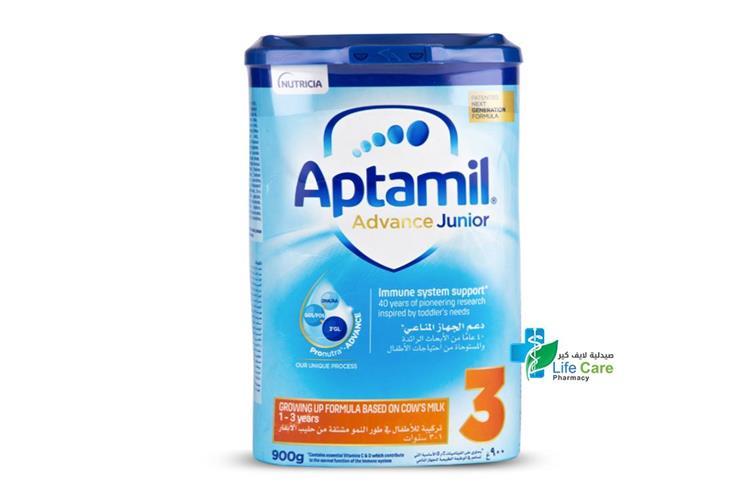 APTAMIL ADVANCE JUNIOR NO 3 FROM 1 TO 3 YEARS 900 GM - صيدلية لايف كير