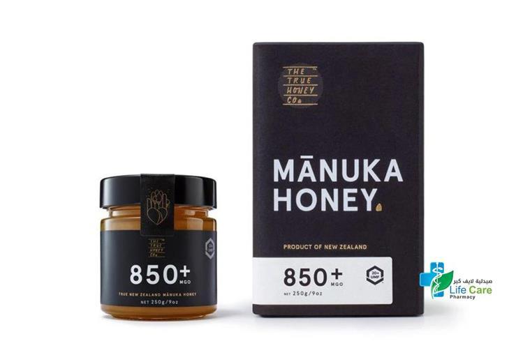 MANUKA HONEY 850 PLUS MGO 20PLUS 250GM - Life Care Pharmacy