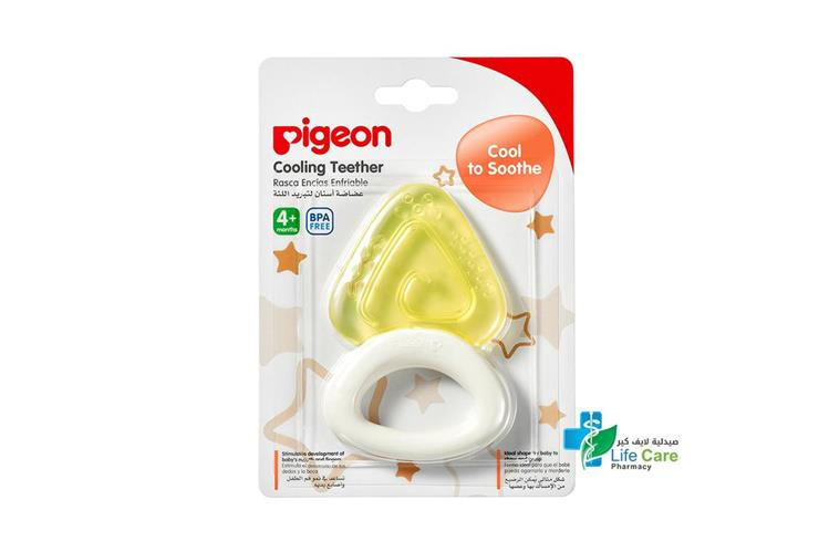 PIGEON COOLING TEETHER TRIANGLE PLUS 4 MONTH - صيدلية لايف كير