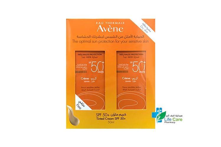 AVENE TINTED CREAM SPF50 1 PLUS 1 FREE 50 ML - صيدلية لايف كير