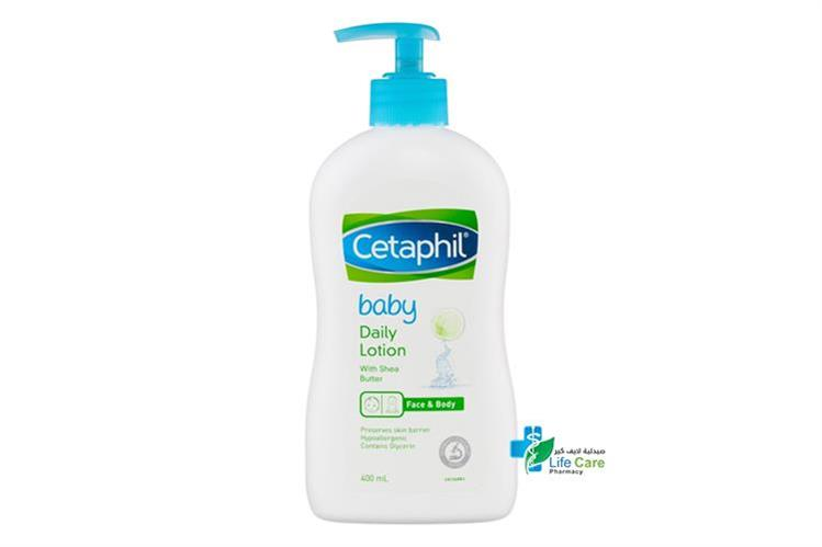 CETAPHIL BABY DAILY LOTION WITH SHEA BUTTER 400ML - صيدلية لايف كير