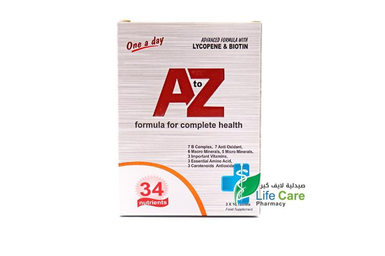 A TO Z MULTIVITAMINS 30 TABLETS - Life Care Pharmacy