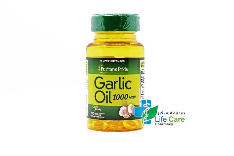 PURITANS PRIDE GARLIC OIL 1000 MG 100 CAPSULES - Life Care Pharmacy