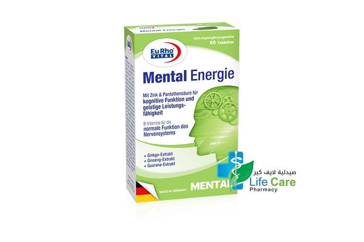 EURHO VITAL MENTAL ENERGIE 60 TABLETS - صيدلية لايف كير