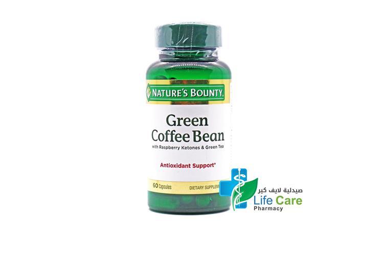 NATURES  BOUNTY GREEN COFFEE BEAN 60 CAPSULES - صيدلية لايف كير