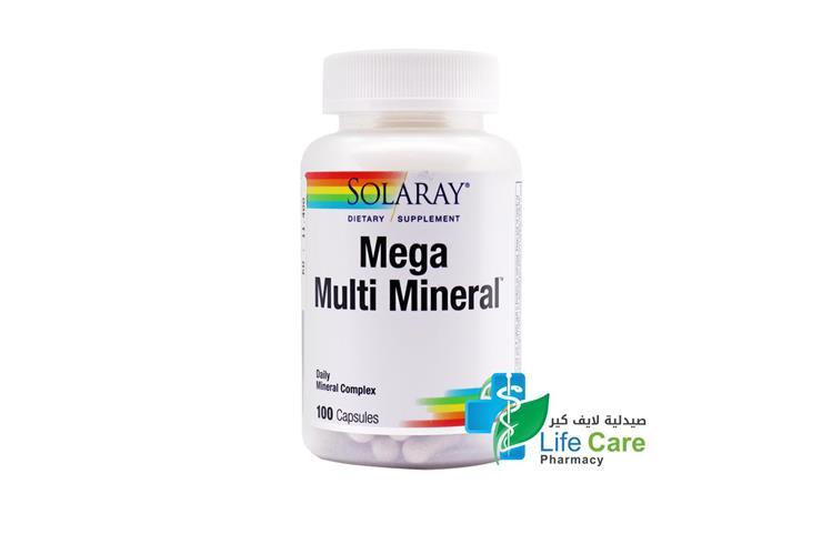 SOLARAY MEGA MULTI MINERAL 100 CAPSULES - صيدلية لايف كير