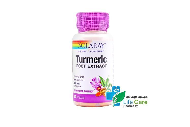 SOLARAY TURMERIC EXTRACT 60 CAPSULES - Life Care Pharmacy