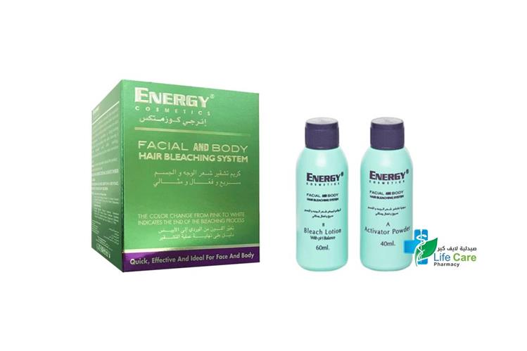 ENERGY FACIAL AND BODY HAIR BLEACHING SYSTEM - صيدلية لايف كير